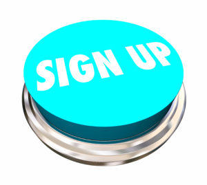 Sign Up Register Enroll Join Us Word Button 3d Illustration