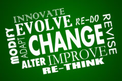 Change Adapt Evolve Improve Revise Rethink Word Collage