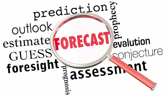 Forecast Prediction Outlook Estimate Word Collage Magnifying Gla