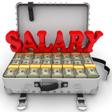 Big salary. Red word