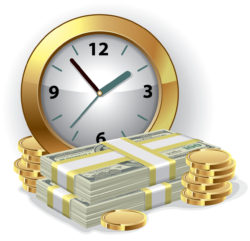 bigstock-Office-Clock-and-money-Time-i-25566452