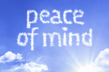 Peace of Mind cloud word