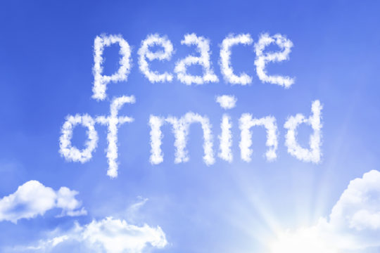 Peace of Mind cloud word