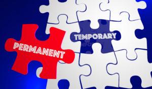 Permanent Vs Temporary Solution Problem Solved Puzzle 3d Illustr