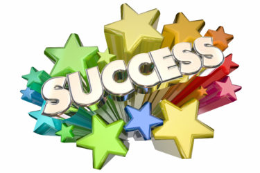 Success Stars Celebration Succeed Mission Goal 3d Illustration