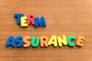 term assurance colorful word on the wooden background