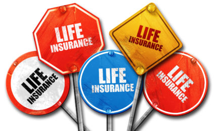 life insurance, 3D rendering, rough street sign collection