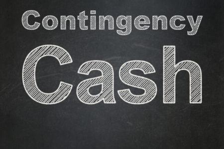 Banking concept: text Cash on Black chalkboard background