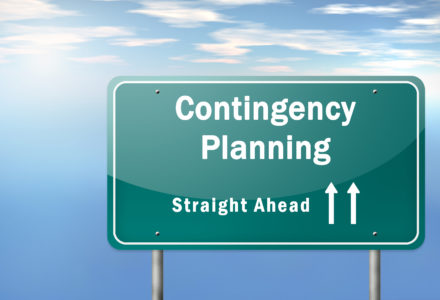 Highway Signpost Image with Contingency Plan wording