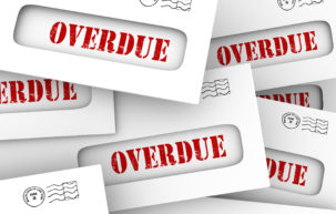 Overdue-word-in-envelopes